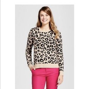 A New Day Animal print pull over sweater